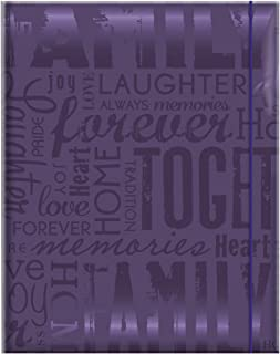 MCS 100 Pocket Big Max Embossed Family Album, Purple (823365)