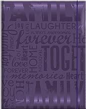 MCS 100 Pocket Big Max Embossed Family Album, Purple (823365)