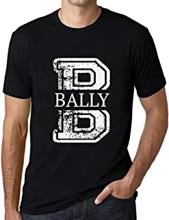 Men's Vintage Tee Shirt Graphic T Shirt Letter B Countries and Cities Bally Deep Black