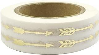 Allydrew Decorative Washi Masking Tape, Gilded Arrows