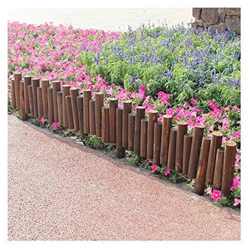 WXQIANG Cubierta Protectora de Madera Cerca de piquete jardín cercado al Aire Libre Patio Floral Paisaje carbonización Ribete Decoración, 6 Tamaños (Color : 1pc, Size : 100x20/25cm)