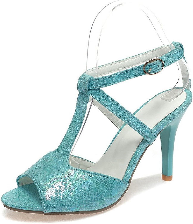 BalaMasa Womens Sandals High-Heel Light-Weight Urethane Sandals ASL04756