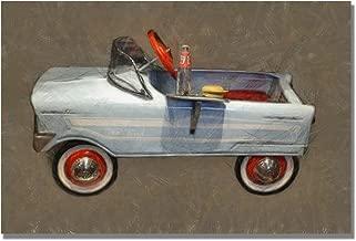 Tee Bird Pedal Car by Michelle Calkins, 22x32-Inch Canvas Wall Art