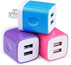 USB Wall Charger,Charging Block 3-Pack 2.1A Dual Port USB Wall Charging Plug Head Travel Charger Cube Compatible for iPhon...