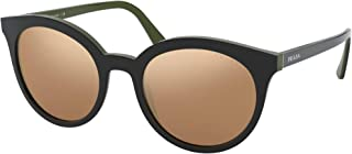 Prada PRADA HERITAGE PR 02XS BLACK/BROWN GOLD 53/21/145 women Sunglasses