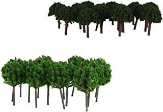 non-brand 100 Piezas Escala 1/300 1/500 Modelo Árboles Diseño de Escena de Paisaje Tren Modelismo Ferroviario