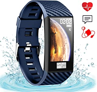 ahanzhu DT58 Pulsera Inteligente Mujeres Banda de Ritmo Cardíaco Pantalla a Color Relojes de Pulsera Actividad Impermeable Gimnasio Rastreador Smartwatch