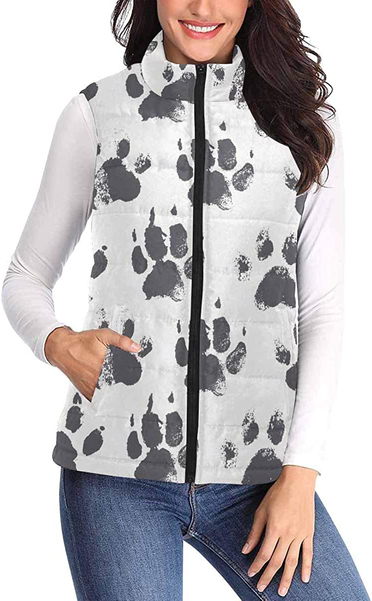 InterestPrint Casual and Fashionable Women Padded Vest with Colorful Prints Owl Backgound