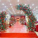 Arco de Boda, círculo de Hierro, Accesorios de Boda, Arco, telón de Fondo, cenador de Forma Redonda para Plantas trepadoras, decoración de Globos de Flores