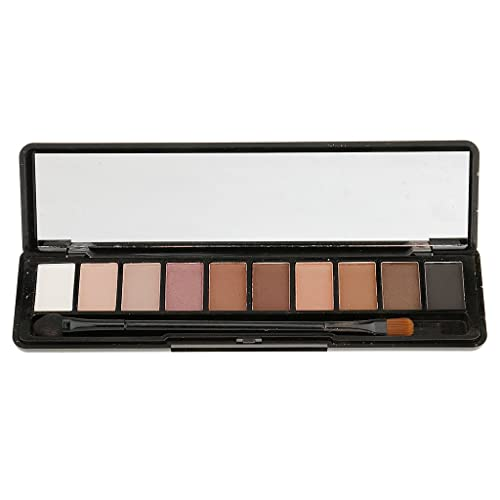 Segolike 10 Colors Matte Shimmer Eyeshadow Cream Makeup Cosmetic Eye Shadow Shades Palette & Brush Kit Waterproof Long Lasting - 1#
