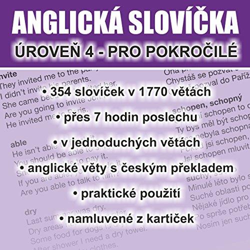 Anglická slovíčka - úroveň 4 pro pokročilé audiobook cover art