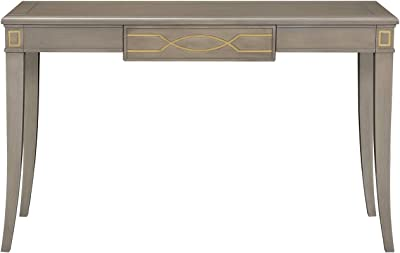 Jennifer Taylor Home Troy Gold Accent Console Vanity Table, Grey Cashmere