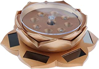 D DOLITY Solar Powered Showcase with LED Light Rotating Jewelry Display Stand Light Lotus Shape Turn Table Watch Phone Pendant Ring Bracelet Turntable