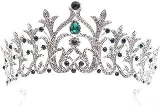 LUCKYYY Copricapo da Sposa con Corona di Diamanti in Lega di Acqua e Gioielli da Sposa