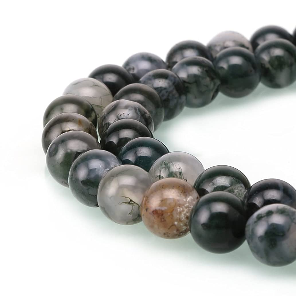 AAA Natural Moss Agate Gemstone 10mm Loose Round Beads Spacer Beads 15.5