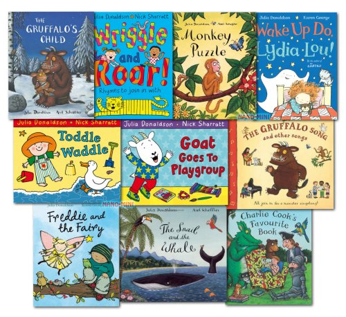 The Julia Donaldson Collection Pack 10 Books Set Inc Gruffalo Song Book