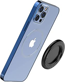 TechMatte MagGrip Magnetic Base Plate, Designed for iPhone 12 Mag-Safe, Work with P-Socket/Phone Ring Holder, Wireless Cha...