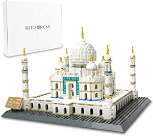 ArtorBricks Architectural Taj Mahal Large Collection Building Set Model Kit and Gift for Kids and Adults , Compatible with Lego (1503 Pieces)