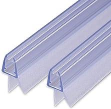 Sealis Afdichting voor douchedeuren, met afdichtstrip voor 5, 6, 7, 8 mm glasdikte, waterafstotend