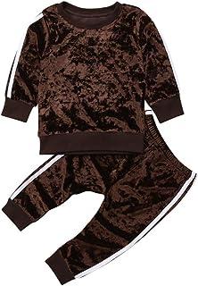 2 Pcs Fashion Toddler Kids Baby Girls Velvet Clothes Outfit Pant Set Long Sleeve Sweatshirt Tops Pants Tie Dye Clothes