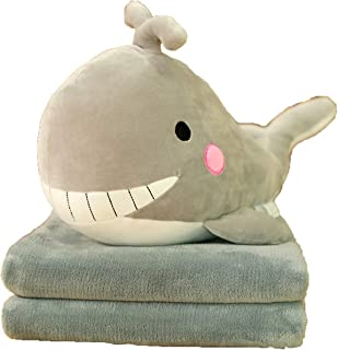 Dolphin with Blanket Anime Pillow Seal Pillow Back Cushion Comfortable Children Girlfriend Office Sofa Bed,2