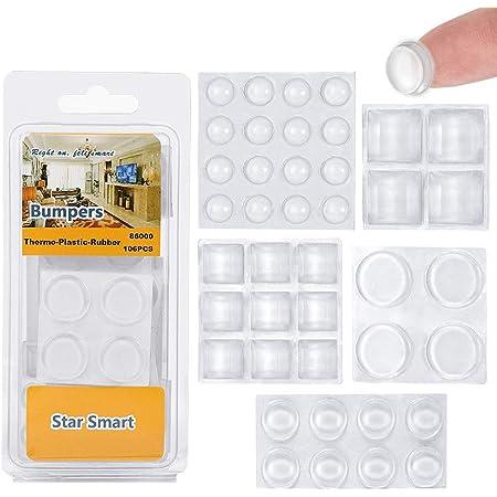40pcs Square Rubber Feet Self-Adhesive Bumper Door Buffer Stop Furniture Pads H5