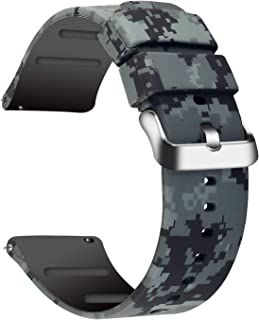 for 22mm 20mm Quick Release Sport Watch Bands, Lightweight Soft Rubber Silicone Replacement Band Straps