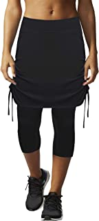 Womens Capri Skirt Tennis Casual Skirted Leggings Skort, Sport Running Athletic Swim Workout with Capri/Shorts