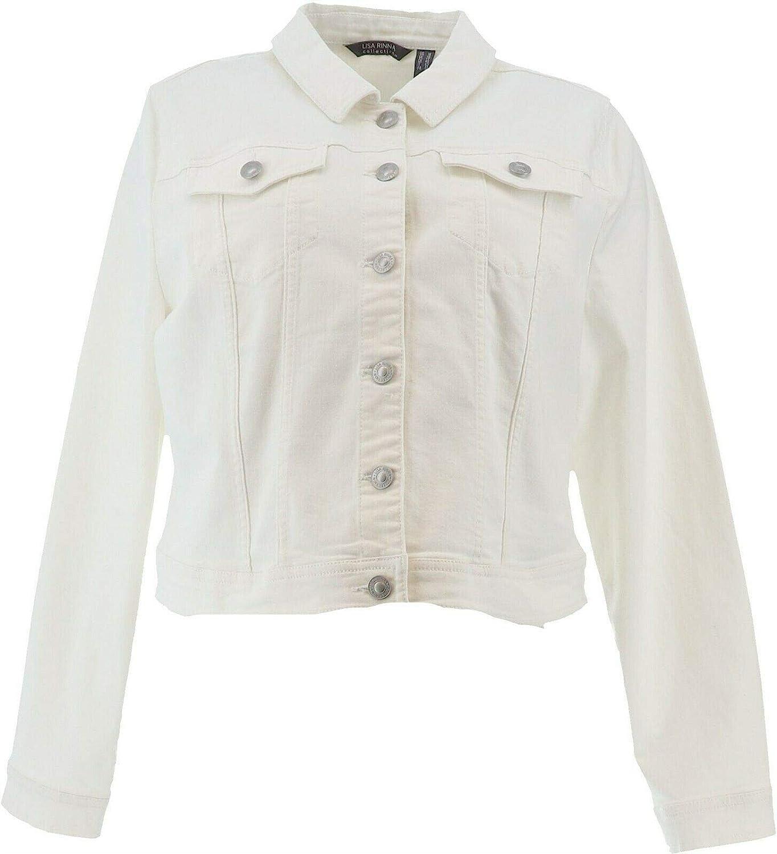 Lisa Rinna Collection Color Button Denim Jacket A351369