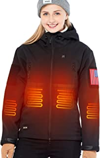 Heated Jacket with 7.4V Battery for Women Soft Shell...