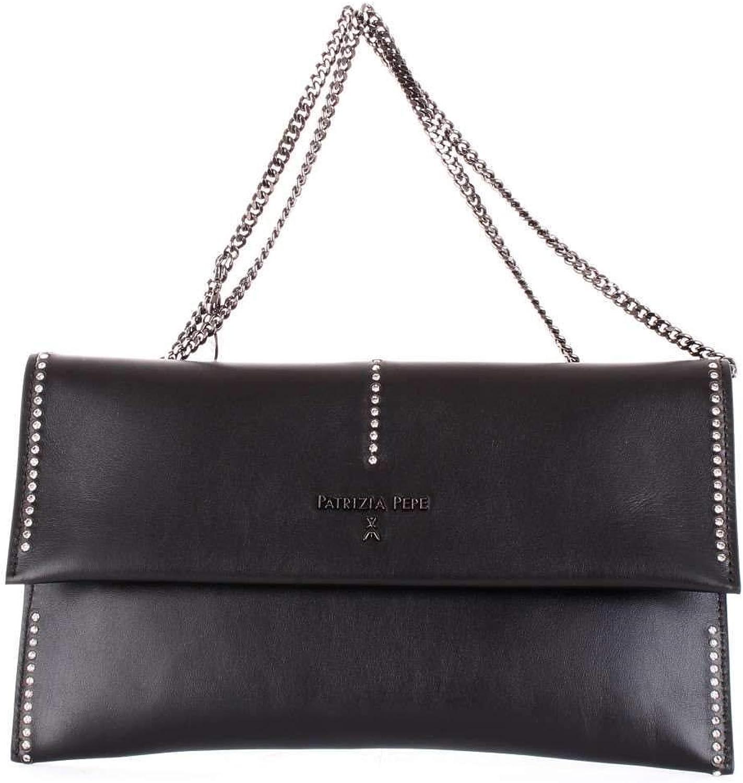 Patrizia Pepe Women's 2V5460A2UXK103 Black Leather Clutch