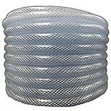 Maxx Flex (1' ID x 1 1/4' OD x 100 ft) HydroMaxx Flexible Non Toxic Clear High Pressure, Reinforced, PVC Braided Vinyl Tubing (1531100100)