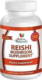Reishi Mushroom Supplement - 120 Veg. Capsules with Ganoderma Lucidum Mushrooms