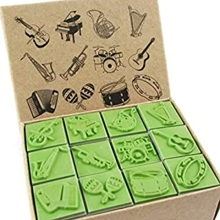 musical instrument rubber stamps