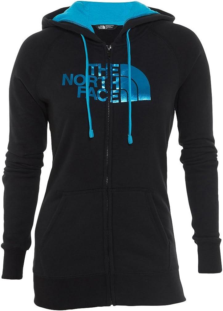 The North Face Half Dome Sweat à capuche zippé pour femme Tnf Noir/Bleu Turquoise.
