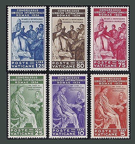 Goldhahn Vatikan Nr. 45-50 postfrisch  Juristenkongre 935  geprüft und signiert Briefürken für Sammler