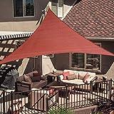 SUNNY GUARD 20' x 20' x 20' Terra Triangle Sun Shade Sail UV Block for Outdoor Patio Garden