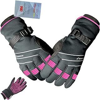BIKINGMOREOK 3M Thinsulate Windproof Winter Cycling Gloves Reflect Touchscreen Warm Winter Gloves for Bike Bicycle Biking Snowboarding Skiing Motorcycle Driving Hiking Climbing Running Men Women