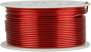 TEMCo 17 AWG Copper Magnet Wire - 1 lb 158 ft 155°C Magnetic Coil Red
