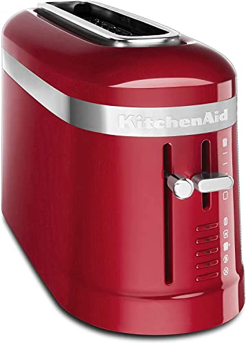 new arrival KitchenAid discount KMT3115ER 2 Slice Long Slot online High-Lift Lever Toaster, Empire Red (RENEWED) CERTIFIED REFURBISHED online