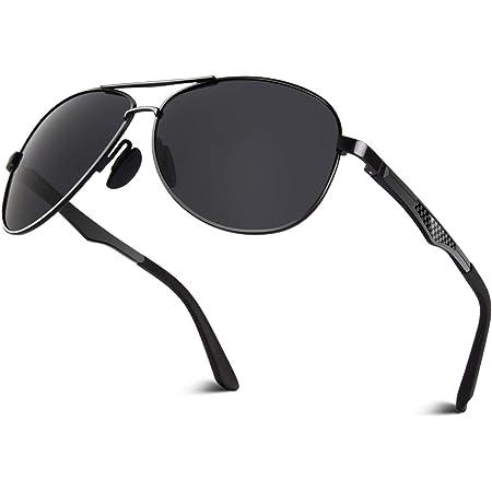 CGID Mens Sunglasses Premium Al-Mg Alloy Pilot Polarised UV400 Spring Hinges Sun Glasses for Men Women