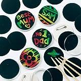 Baker Ross Kratzbild-Buttons (10er-Pack), perfekt für Kinder zum Entwerfen und Dekorieren, ideal für Aktivitäten zu Hause, Bastelgruppenaufgaben und Schularbeiten