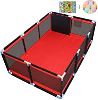 CXHMYC Large safety barrier for children, children's center, indoor and outdoor work area Breathable play area with protective mat 200 Ocean Ball, 190x128x66cm