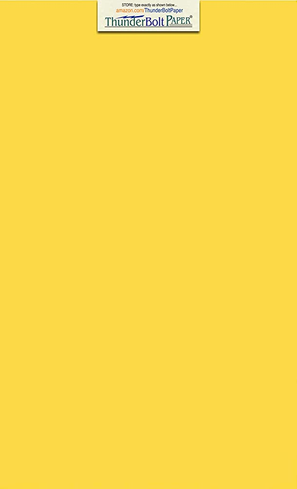 150 Bright Golden Yellow 65lb Cover|Card Paper - 8.5