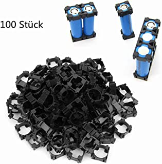 FTVOGUE 100 Unids 18650 Soporte de Batería de Iones de Litio Soporte de Batería Cilíndrica Soporte Caja de Plástico Anti Vibración Caja
