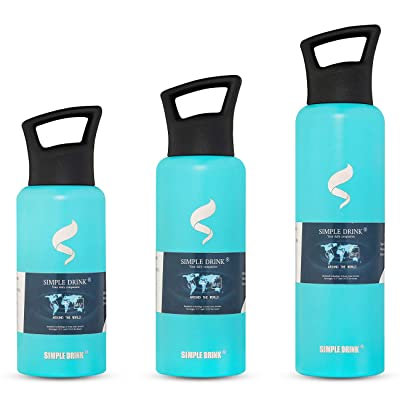 SIMPLE DRINK Stainless Steel Insulated Water Bo...