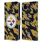 Head Case Designs sous Licence Officielle NFL Camou Pittsburgh Steelers Logo Coque en Cuir à...
