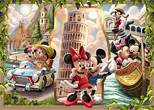 Ravensburger Disney Mickey Mouse: Vacation Mickey and Minnie 1000 Piece Jigsaw Puzzle for Adults - Every Piece is Unique, Softclick Technology Means Pieces Fit Together Perfectly