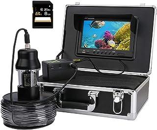 Grabador de 9 Pulgadas DVR Fish Finder, 20pcs LED Blancos + 18pcs lámparas infrarrojas LED IP68 Cámara de Video de Pesca s...