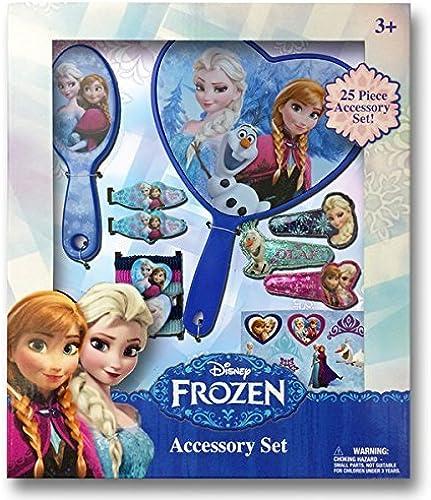 venta al por mayor barato Disney Frozen Jewelry Box Set with Snap Clips, Clips, Clips, Barrettes, Brush, Mirror & Terry Ponies by Disney Frozen  buena reputación